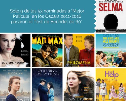 Nota Oscars Las 9 nominadas a %22Mejor Película%22 en los Oscars 2011-2016 que pasaron el Test de Bechdel de 60%22